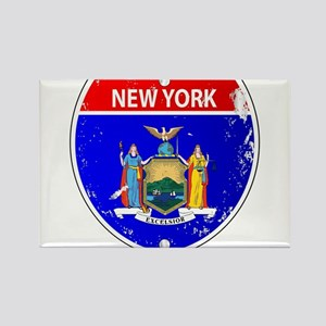 New York Flag Icons As Interstate Sign Magnets
