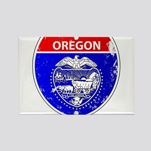 Oregon Flag Icons As Interstate Sign Magnets