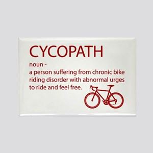 Cycopath Funny Cycling Red Design Magnets