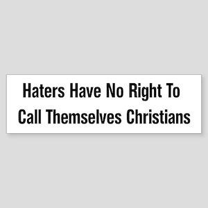 Hate Is Not Christian Bumper Sticker