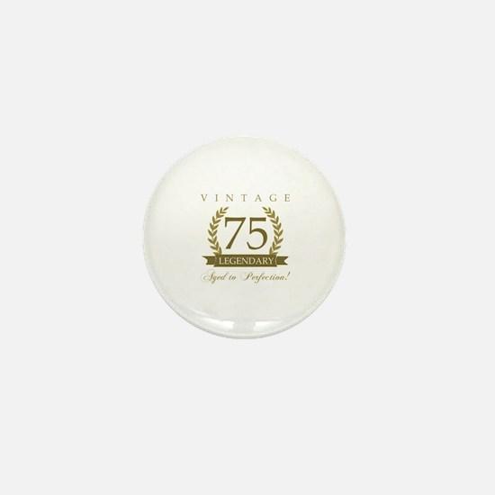 Unique 75th birthday Mini Button