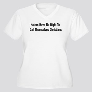 Hate Is Not Christian Women's Plus Size V-Neck T-S