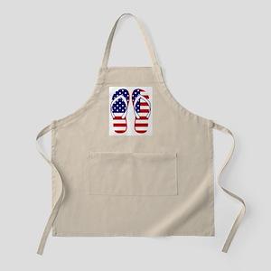 American Flag flip flops Apron