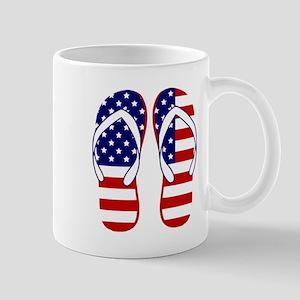 American Flag flip flops Mugs