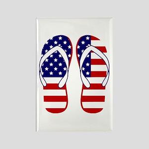 American Flag flip flops Magnets