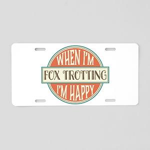 happy fox trotter Aluminum License Plate