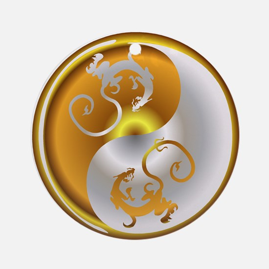 Zen Dragons Ornament (Round)