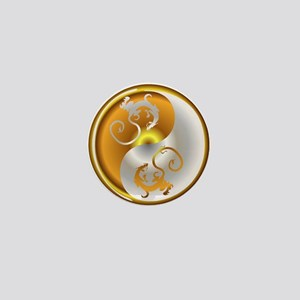 Zen Dragons Mini Button