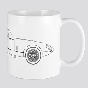 Sports Car Outline Mugs