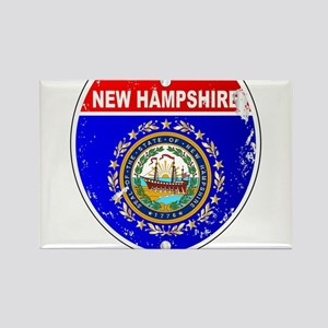 New Hampshire Flag Icons As Interstate Sig Magnets