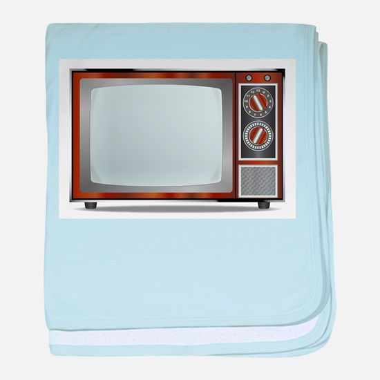 Old Television Set baby blanket