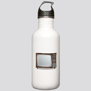 Old Television Set Stainless Water Bottle 1.0L
