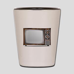 Old Television Set Shot Glass