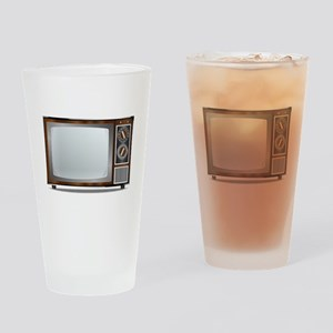 Old Television Set Drinking Glass