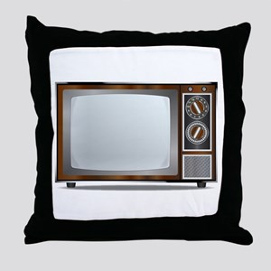Old Television Set Throw Pillow