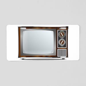 Old Television Set Aluminum License Plate