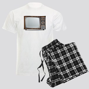 Old Television Set Men's Light Pajamas