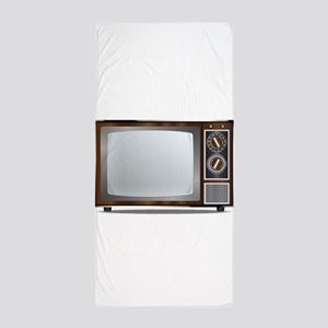 Old Television Set Beach Towel
