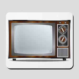 Old Television Set Mousepad