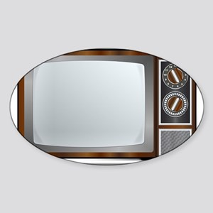 Old Television Set Sticker