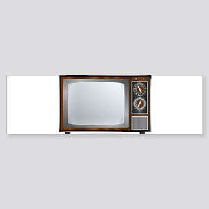 Old Television Set Bumper Sticker