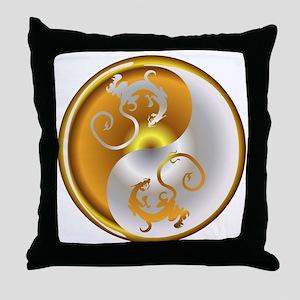 Zen Dragons Throw Pillow
