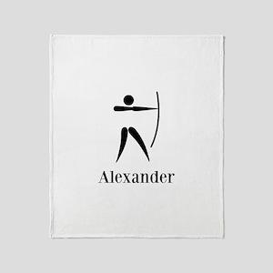 Team Archery Monogram Throw Blanket