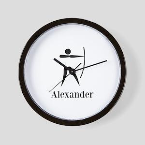 Team Archery Monogram Wall Clock