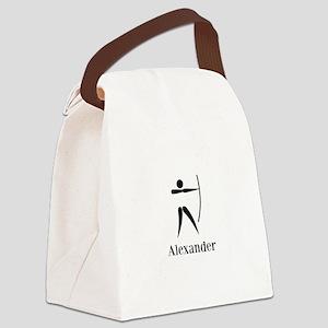 Team Archery Monogram Canvas Lunch Bag