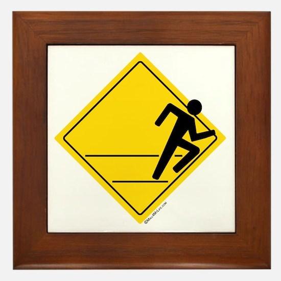 Runner Crossing Framed Tile