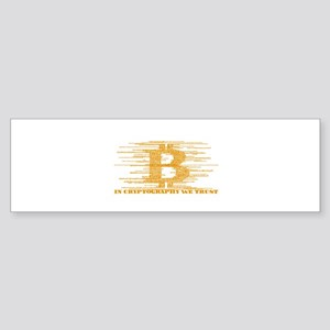 IN CRYPTOGRAPHY WE TRUST Bumper Sticker