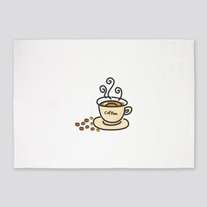 Steamy Cup Of Coffee 5'x7'Area Rug