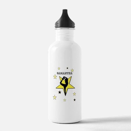 Yellow cheerleader personalized Water Bottle