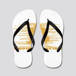IN CRYPTOGRAPHY WE TRUST Flip Flops