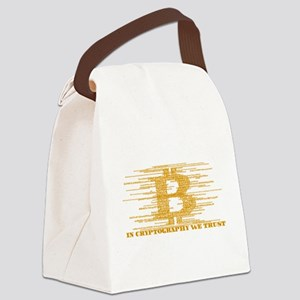 IN CRYPTOGRAPHY WE TRUST Canvas Lunch Bag