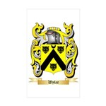Wyler Sticker (Rectangle 50 pk)