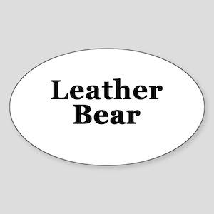 Leather Bear Sticker (Oval)