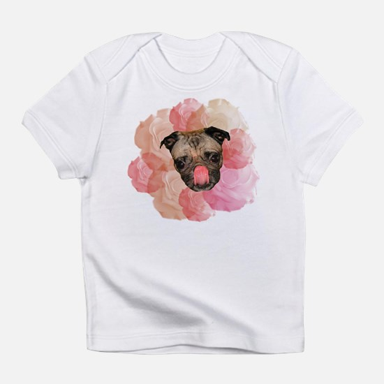 chew rose pug Infant T-Shirt