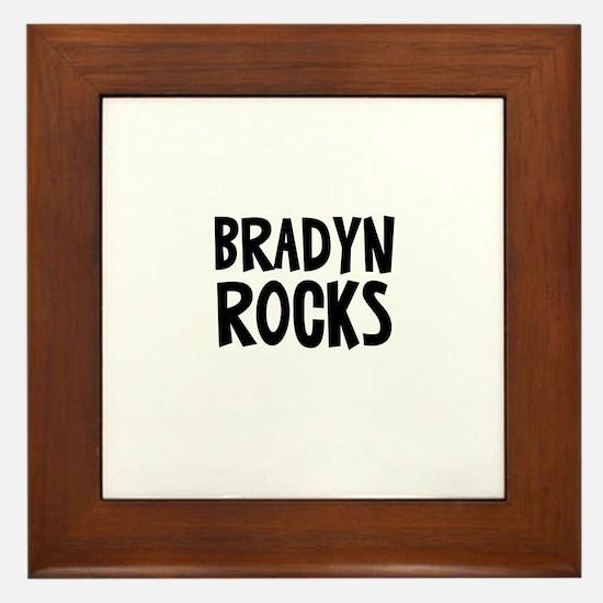 Bradyn Rocks Framed Tile