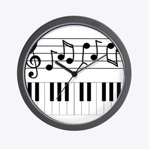 Music Piano Wall Clock