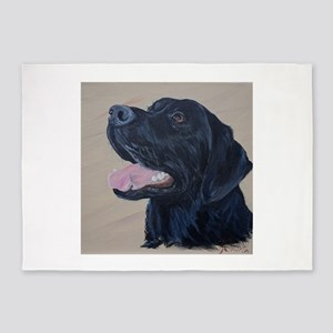Black Labrador 5'x7'Area Rug