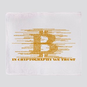 IN CRYPTOGRAPHY WE TRUST Throw Blanket