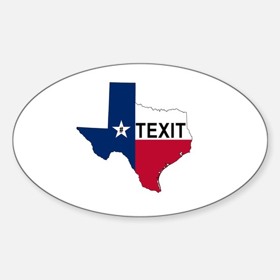 Cute Texas secede Sticker (Oval)