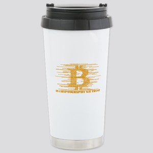 IN CRYPTOGRAPHY WE TRUS Stainless Steel Travel Mug