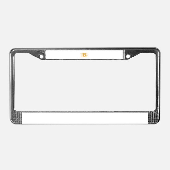 IN CRYPTOGRAPHY WE TRUST License Plate Frame