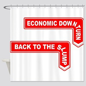 The Economic Signs Shower Curtain