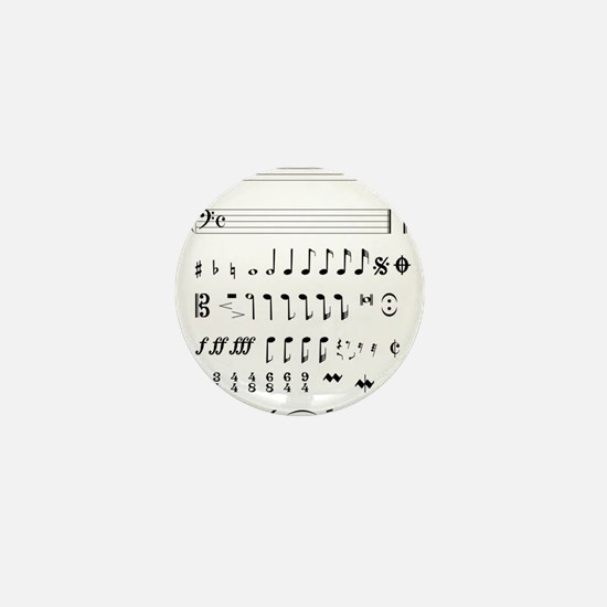 Musical Notation Mini Button