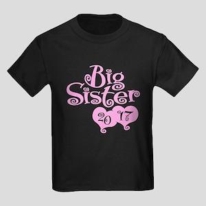 Big Sister 2017 Kids Dark T-Shirt