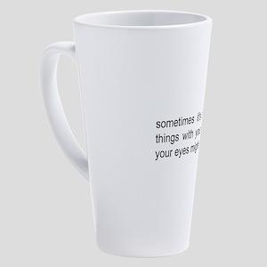 autism saying 17 oz Latte Mug