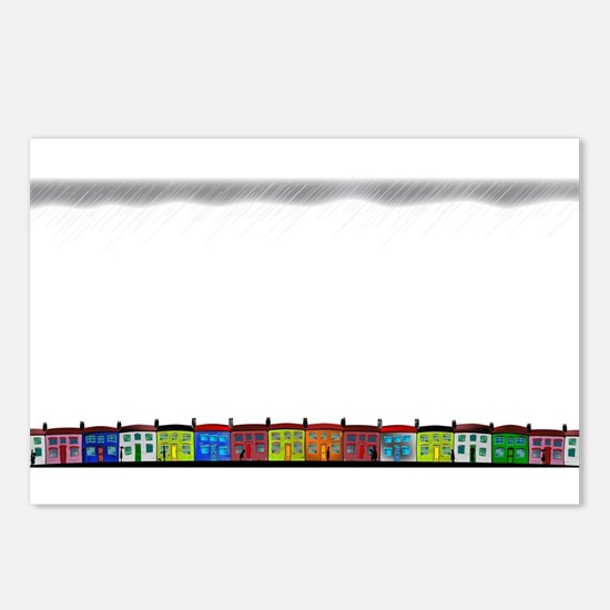 Rainy Day Cottages Postcards (Package of 8)
